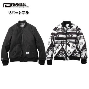 リバーサル REVERSAL 正規販売店 メンズ アウタージャケット BNO REVERSIBLE FLIGHT JACKET rvap16aw002 APPAREL BLACK/NATIVE...