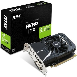 MSI エムエスアイ グラフィックボード GEFORCE GT 1030 AERO ITX 2G OC [NVIDIA GeForce GTX 1030 / 2GB]