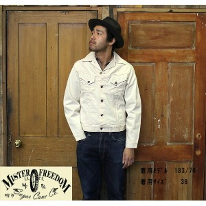 "No.SC13435 MFSC ミスターフリーダムMade in U.S.A.""NOS WHITE DENIM COWBOY JACKET"""