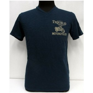 Johnson Motors(ジョンソンモータース)[Trouble Motorcycles/V-Neck]Made in U.S.A.【在庫処分品/返品・交換不可】Vネック/半袖Tシャツ!