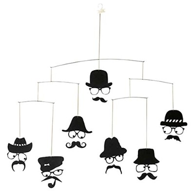 ファブリックミー モビール THE DETECTIVE 7 FACES - HAT & MOUSTACHES 66-0002-00