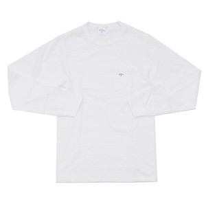 NOAH (ノア)MINI LOGO POCKET L/S T-SHIRT[長袖Tシャツ]WHITE420-000030-030