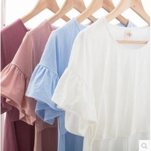 Summer T-shirt short-sleeved feeding milk t-shirt fashion section cover clothes cotton month suits