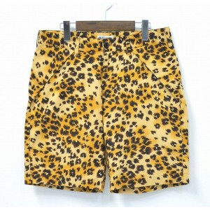 【中古】WHITE LINE (ホワイトライン) WL Original Leopard Shorts オリジナルレオパードショーツ 16SS BLACK BROWN 46 ブラックブラウン...