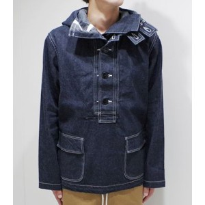 BUZZ RICKSON'S バズリクソンズ U.S.NAVY|デニムパーカー『HOODED PULLOVER JACKET』【ミリタリー・ワーク】BR11703(Other jacket)(std...