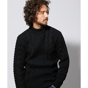 【daboro(ダボロ)】DKN004-001-CABLE HIGH NECK KNIT ニット