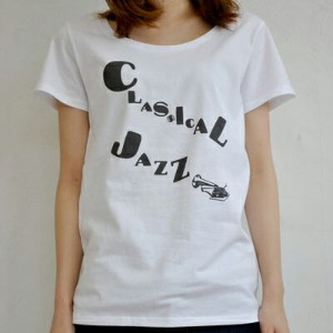 【CAPIME coffee】classical jazz レディースTシャツ