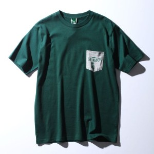 【BASECONTROL (ベースコントロール)】POPAYE×BASECONTROL SPINACH T-シャツメンズ トップス|カットソー・Tシャツ ダークグリーン