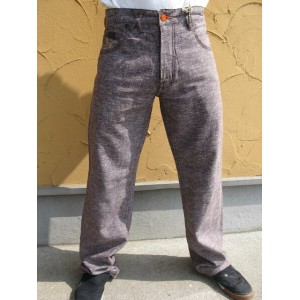 09LRG Cutquistader Linen C47 Pant Chocolate 【30】