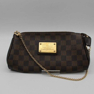 【LOUIS VUITTON】ルイヴィトン ダミエ エヴァ チェーンポーチ/クラッチバッグ N55213【中古】