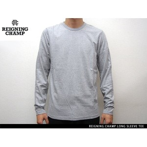"""""""Handcrafted in Canada"""" REIGNING CHAMP LONG SLEEVE TEE HEATHER GREY レイニング チャンプ ロングスリーブ ティー ヘザー グレー"""