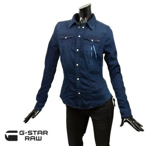 G-STAR RAW ジースター ロゥ レディース シャツ TAILOR CONTOUR SLIM SHIRT WMN 93604e 6513 071 MEDIUM AGED