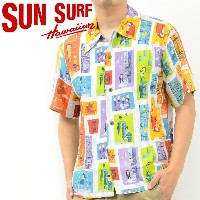サンサーフ SUN SURF アロハ シャツ TIKI PARADISE by SHAG KEONI OF HAWAII 東洋 SS37654