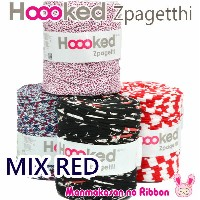 《★》Hoooked Zpagetti(柄) MIXレッド 120m巻 (全5色)【宅配便】