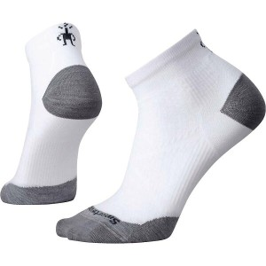 スマートウール レディース インナー ソックス【Smartwool PhD Run Ultra Light Low Cut Sock】White / Light Grey