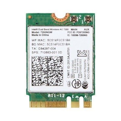 HP純正 710663-001 Intel Dual Band Wireless-AC 7260 867Mbps 802.11ac + Bluetooth 4.0 M.2 無線LANカード...