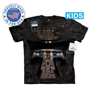 The Mountain Tシャツ The Smithsonian Airbus A320 Cockpit (The Smithsonian コックピット 飛行機 キッズ 子供用)【輸入品】半袖