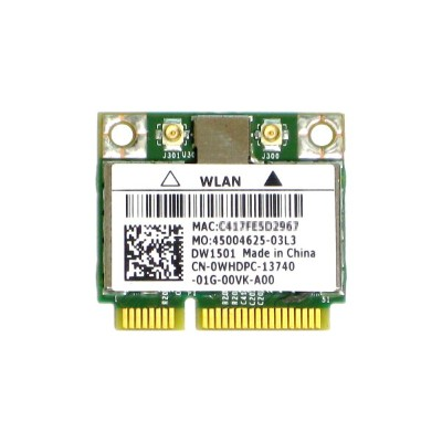 Dell Wireless WLAN 1501 DW1501 内蔵ワイヤレスLAN Half-Miniカード (802.11b/g/n対応) BCM94313HMG2L/BCM4313