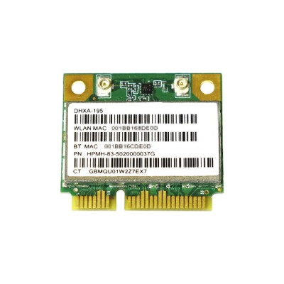 Atheros AR5B195 Single Band 802.11b/g/n + Bluetooth 3.0 PCIe Mini half 無線LANカード