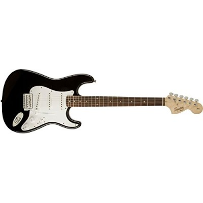 Squier by Fender エレキギター Affinity Series Stratocaster, Rosewood Fingerboard, Black
