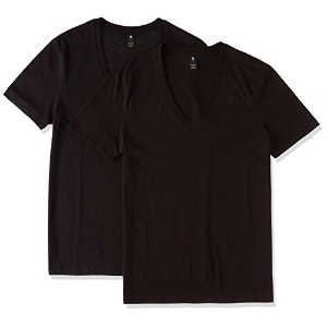 (ジースター ロゥ)G-Star Raw Base Htr V-t s/s Tシャツ2pack 8761-2757-2019 2019 黒 Y