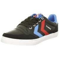 [ヒュンメル] hummel Stadil Low Leather/Suede HM63064S  2640 (Black/Brilliant Blue/Ribbon Red/40)
