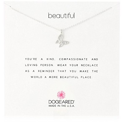 "[ドギャード] Dogeared Reminder sterling silver Beautiful/enchanted butterfly ネックレス 16"" MRS S100 218304..."
