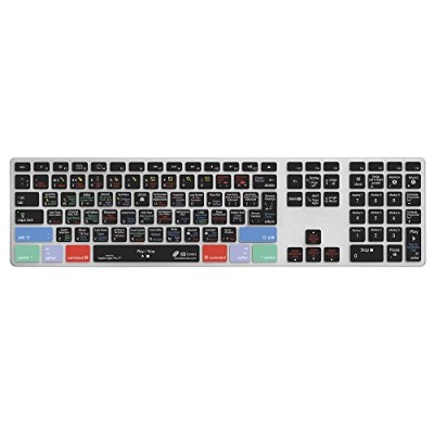KB Covers Logic Pro X用ショートカットキーボードカバー  Apple Ultra-Thin Aluminium Keyboard用 US配列 LOGX-AK-CC