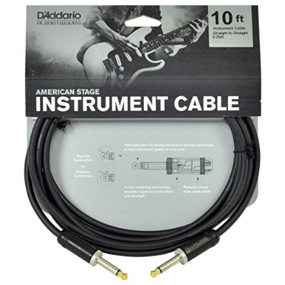 Planet Waves by D'Addario プラネットウェーブス ギターシールド American Stage Instrument Cable PW-AMSG-10 (3.0m S-S) ...