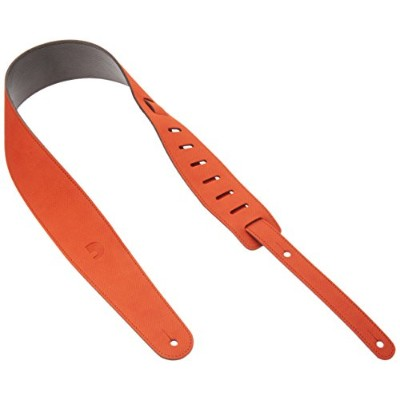 "Planet Waves by D'Addario プラネットウェーブス ギターストラップ""Cantanella Leather"" 25VLC03-DX 2.5"" Orange 【国内正規品】"