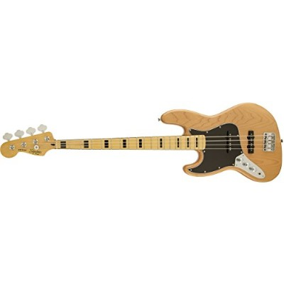 Squier by Fender エレキベース Vintage Modified Jazz Bass® '70s, Left-Handed, Maple Fingerboard, Natural