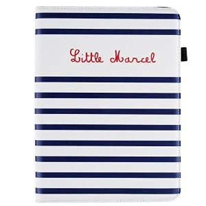 Little Marcel(フランス) タブレット用汎用ケース Universal Folio for Tablet 9&10 Revolutionary Fixing System Marin ...