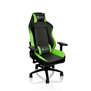 Thermaltake Tt eSPORTS GT Confort Gaming chair -Black&Green- ゲーミングチェア FT0007 GC-GTC-BGLFDL-01