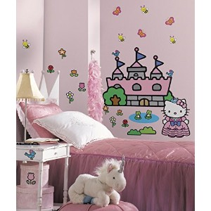 RoomMates ウォールステッカー HelloKitty Princess Castle RMK1200GM