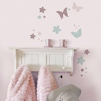 RoomMates ウォールステッカー Kid'sLAB Romantic Butterflies W20910