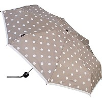 Knirps 折りたたみ傘 コンパクト 【正規輸入品】 T.010 Small Manual Polka Dot Greige KNT010-4902