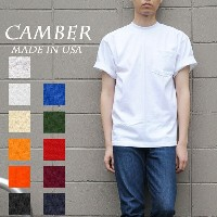 CAMBER MAX WEIGHT 302 POCKET S/S TEE 8oz キャンバー マックスウェイト S/S ポケットTシャツ 8オンス 無地 ポケT MADE IN USA メンズ...