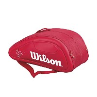 Wilson(ウイルソン) テニス ラケットバッグ FEDERER DNA 12PACK レッド WRZ830712