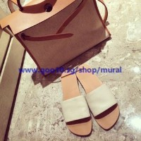 2016 new / fashion flat with flat sandals / womens word slippers / Korea leather