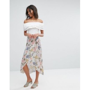 ラップ スカート miss selfridge floral wrap skirt
