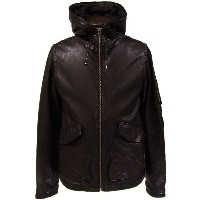 Rhyme(ライム) RH-7916 Hooded Leather Jacket