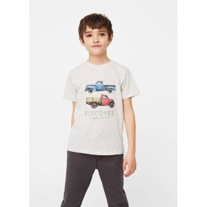 【SALE 30%OFF】T-シャツ . EPETBOY8 (パステルグレー) 子供・キッズ MANGO