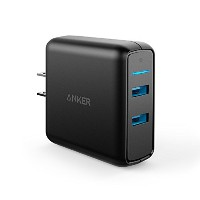 Anker PowerPort Speed 2 (QC3.0搭載2ポート 39.5W USB急速充電器) iPhone, iPad, Galaxy S9, Xperia XZ1,その他Android各...