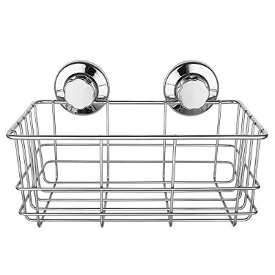 (shower caddy) - Strong Suction Cups Bath Shelf Shower Caddy Rust Free Stainless Steel Deep