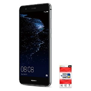 HUAWEI P10lite 【OCNモバイルONE SIMカード付】 (音声SIM, Midnight Black)