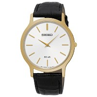 SEIKO Men's Solar Classic Leather Strap Watch SUP872P1 《並行輸入品》 [並行輸入品]