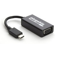 "Plugable USB 3.1 Type C(USB-C) - VGA 変換アダプタ、Retina MacBook 12"" 2015/2016、MacBook Pro 2016、Chromebook..."