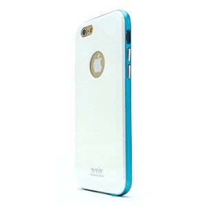 iPhone 6s ケース Tryit Slim Fit Case Metalic Series (White×Blue) for iPhone6s アイフォン6s