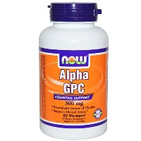 海外直送品Now Foods Alpha GPC, 60 Vcaps 300 Mg(Pack of 3)