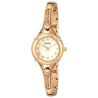 GUESS Women's U0135L2 Petite Vintage-Inspired Embellished Gold-Tone Watch/ゲス/腕時計/並行輸入品